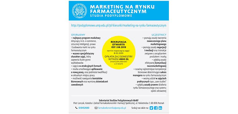Baner reklamowy Marketing na rynku farmaceutycznym