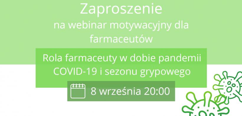 Baner: Webinar motywacyjny dla farmaceutów