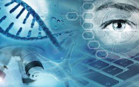terapia genowa: oko, geny, mikroskop